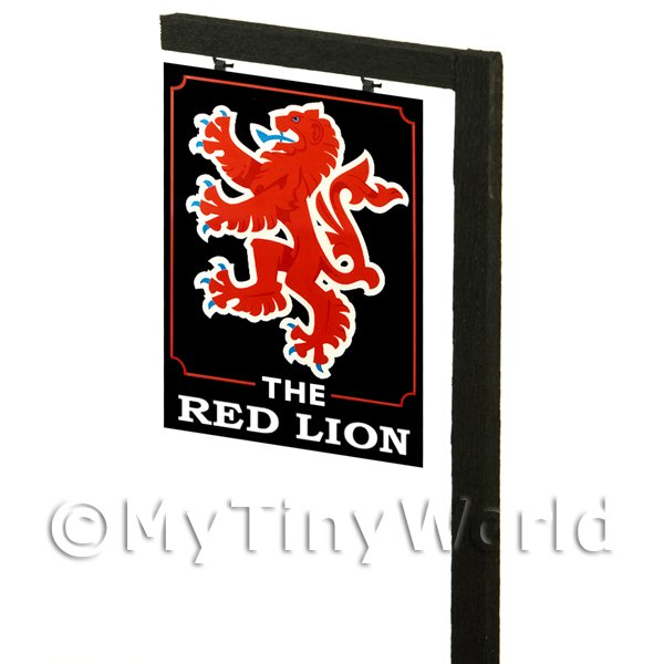 Free Standing Dolls House Pub / Tavern Sign - Red Lion