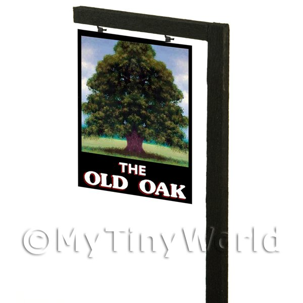 Free Standing Dolls House Pub / Tavern Sign - The Old Oak