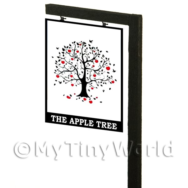 Free Standing Dolls House Pub / Tavern Sign - The Apple Tree
