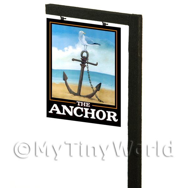 Free Standing Dolls House Pub / Tavern Sign - The Anchor