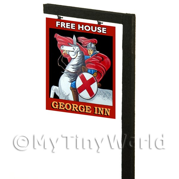 Free Standing Dolls House Pub / Tavern Sign - The George Inn