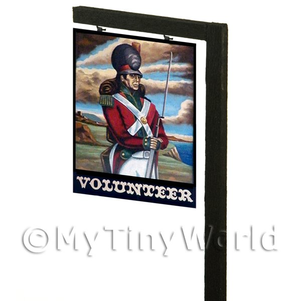 Free Standing Dolls House Pub / Tavern Sign - The Volunteer