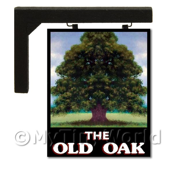Wall Mounted Dolls House Pub / Tavern Sign - The Old Oak
