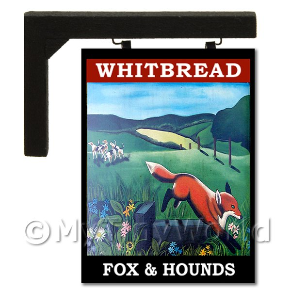 Wall Mounted Dolls House Pub / Tavern Sign - Fox And Hounds