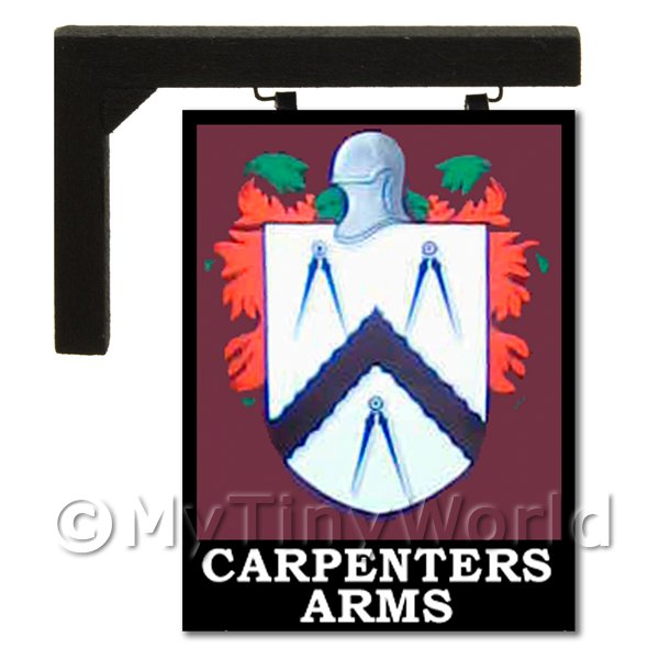 Dolls House Miniature  | Wall Mounted Dolls House Pub / Tavern Sign - Carpenters Arms