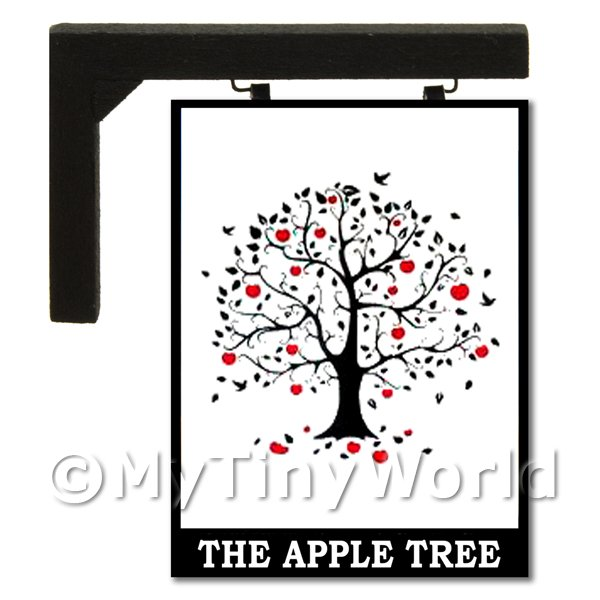 Wall Mounted Dolls House Pub / Tavern Sign - The Apple Tree