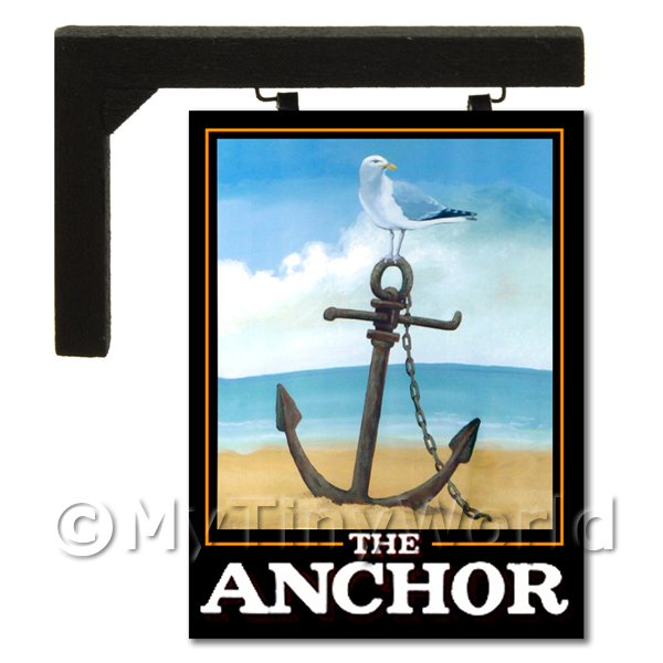 Wall Mounted Dolls House Pub / Tavern Sign - The Anchor