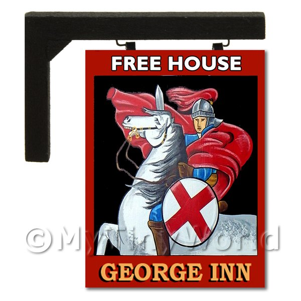 Wall Mounted Dolls House Pub / Tavern Sign - The George Inn