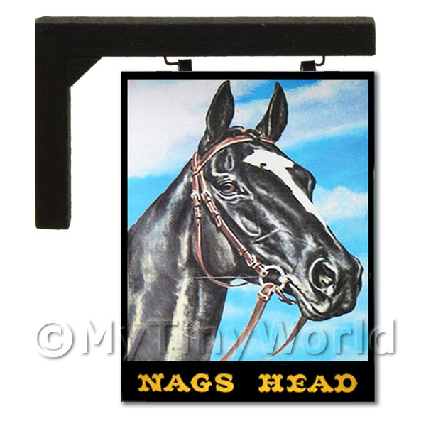 Wall Mounted Dolls House Pub / Tavern Sign - Nags Head