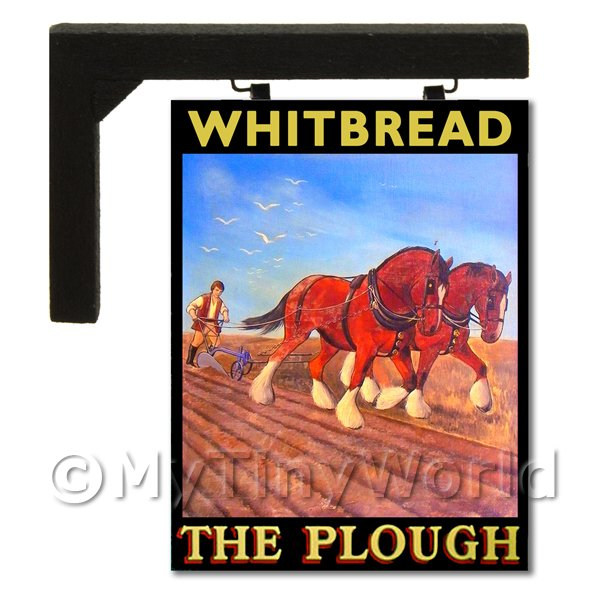 Wall Mounted Dolls House Pub / Tavern Sign - The Plough