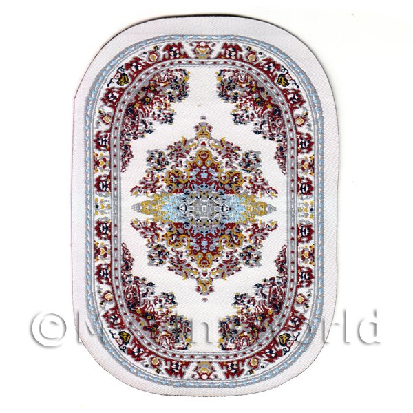 Dolls House Miniature  | Dolls House Small Oval Victorian Carpet / Rug (vcso05)