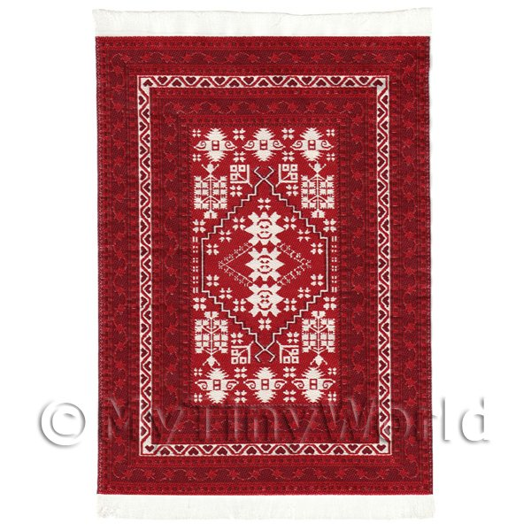 Dolls House Miniature  | Dolls House Medium 16th Century Rectangular Carpet / Rug (16NMR06)