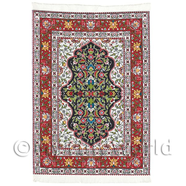 Dolls House Miniature  | Dolls House Large Rectangular 18th Century Carpet / Rug (18NLR06)