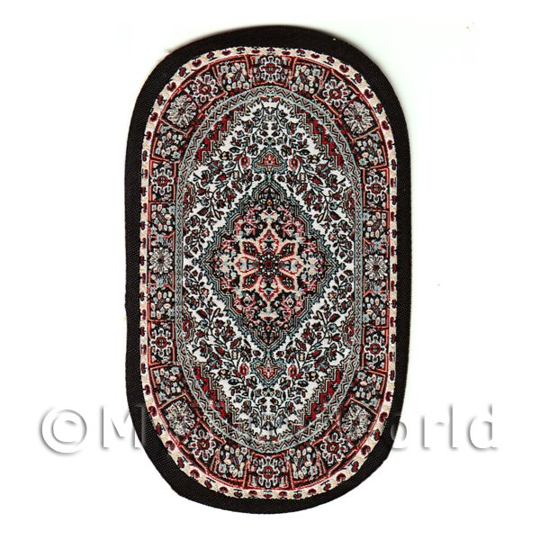 Dolls House Miniature Small Oval 18th Century Carpet / Rug (18SO01)
