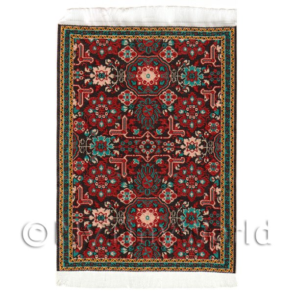 Dolls House Small 16th Century Rectangular Carpet / Rug (16NSR14)