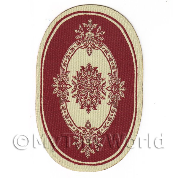 Dolls House Small Oval French Provincial Carpet / Rug (FPSO1)