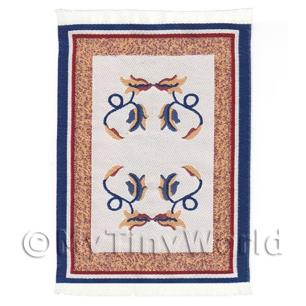 Dolls House Miniature  | Dolls House Small French Provincial Carpet / Rug (FPNSR02)