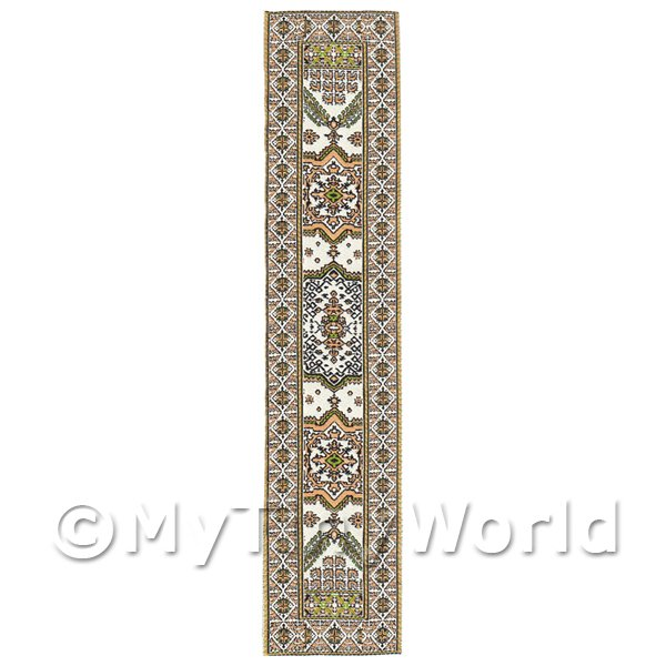 Dolls House Miniature 24cm Woven Turkish Hall Runner (TR004)