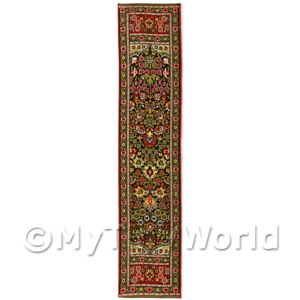 Dolls House Miniature  | Dolls House Miniature 24cm Woven Turkish Hall Runner (TR005)