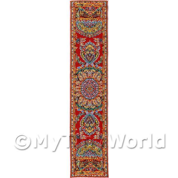 Dolls House Miniature 24cm Woven Turkish Hall Runner (TR006)