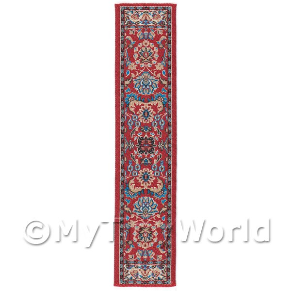 Dolls House Miniature  | Dolls House Miniature 24cm Woven Turkish Hall Runner (TR014)