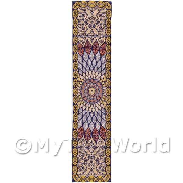 Dolls House Miniature 24cm Woven Turkish Hall Runner (TR016)