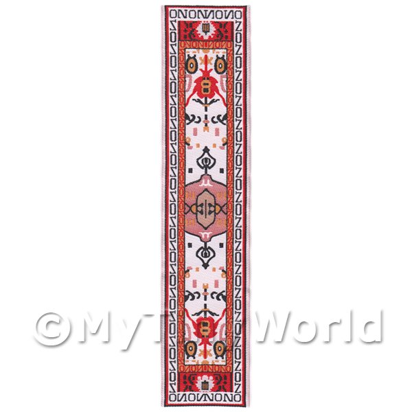 Dolls House Miniature 24cm Woven Turkish Hall Runner (TR046)