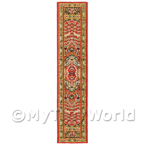 Dolls House Miniature 24cm Woven Turkish Hall Runner (TR049)