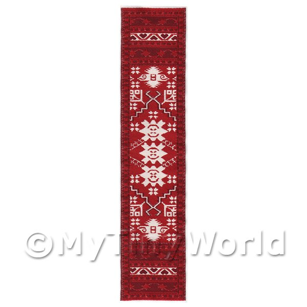 Dolls House Miniature 24cm Woven Turkish Hall Runner (TR050)