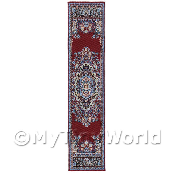Dolls House Miniature 24cm Woven Turkish Hall Runner (TR051)