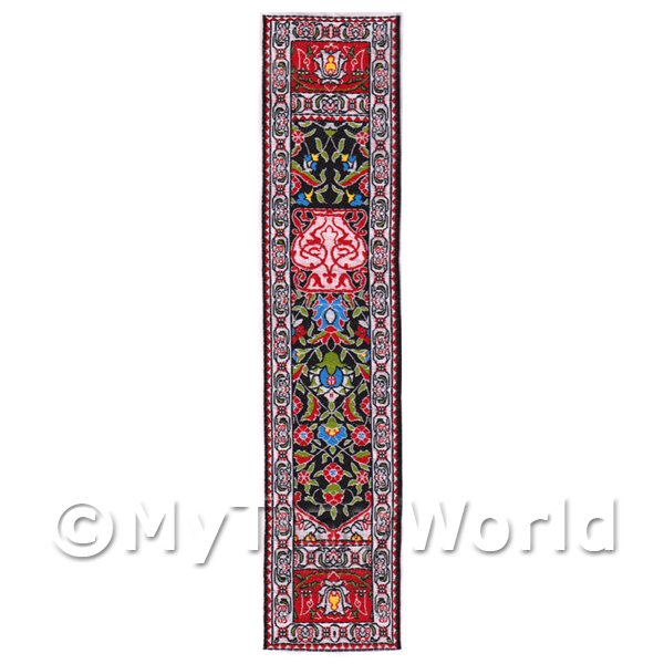 Dolls House Miniature 24cm Woven Turkish Hall Runner (TR056)