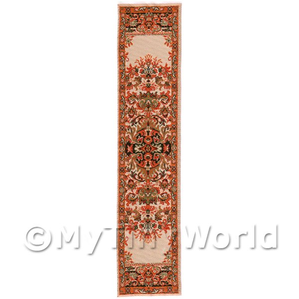 Dolls House Miniature 24cm Woven Turkish Hall Runner (TR059)
