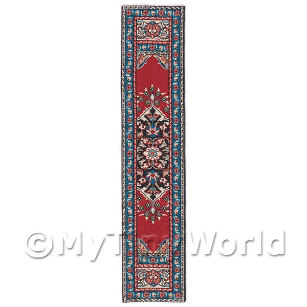 Dolls House Miniature 24cm Woven Turkish Hall Runner (TR062)