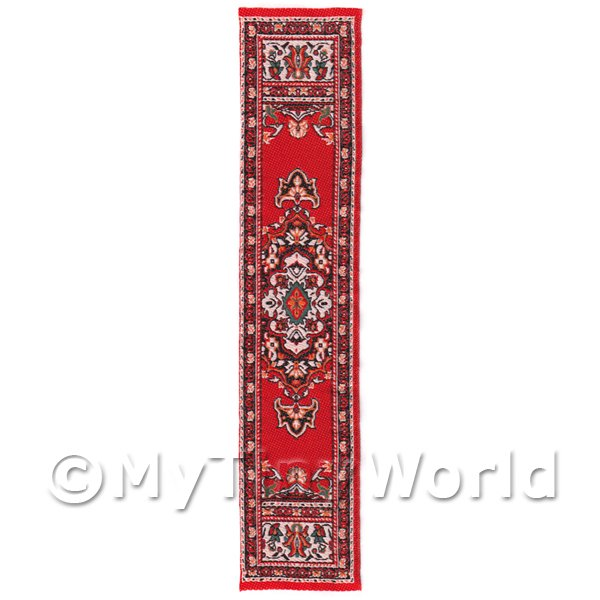 Dolls House Miniature 24cm Woven Turkish Hall Runner (TR064)