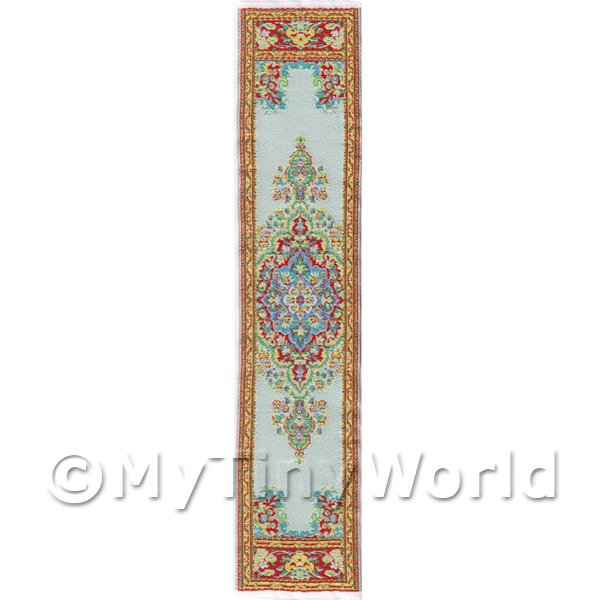 Dolls House Miniature 24cm Woven Turkish Hall Runner (TR065)