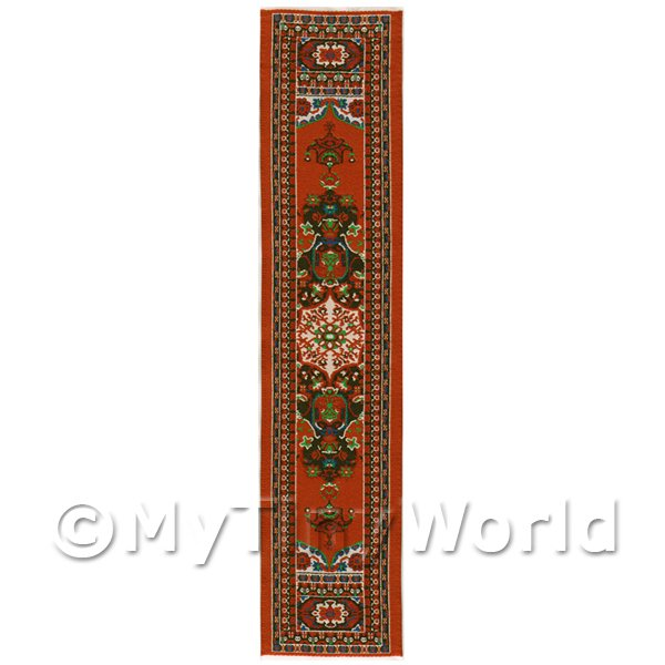 Dolls House Miniature 24cm Woven Turkish Hall Runner (TR066)