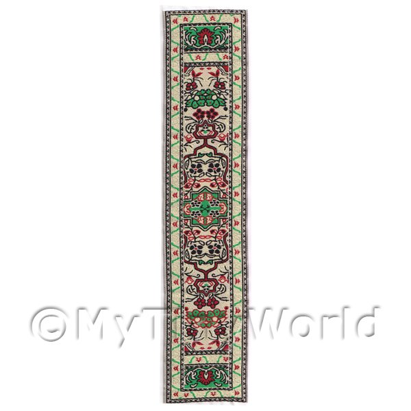 Dolls House Miniature 24cm Woven Turkish Hall Runner (TR076)