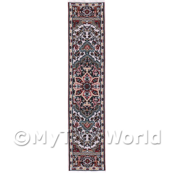 Dolls House Miniature  | Dolls House Miniature 24cm Woven Turkish Hall Runner (TR078)