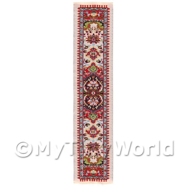 Dolls House Miniature 24cm Woven Turkish Hall Runner (TR079)
