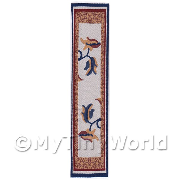 Dolls House Miniature 24cm Woven Turkish Hall Runner (TR081)