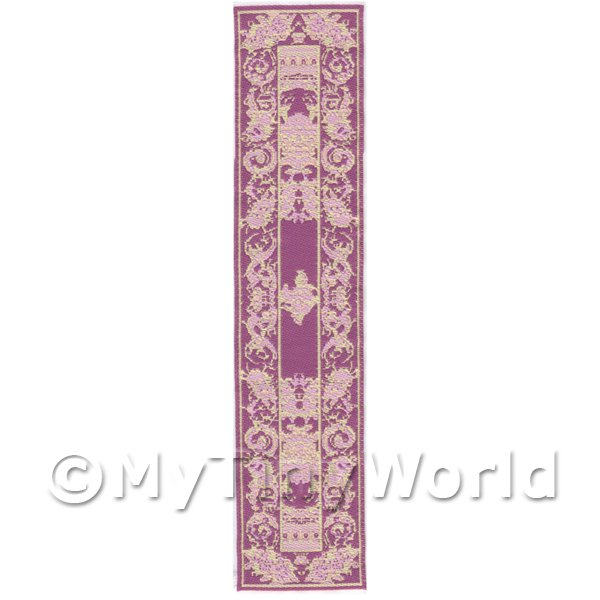 Dolls House Miniature 24cm Woven Turkish Hall Runner (TR085)