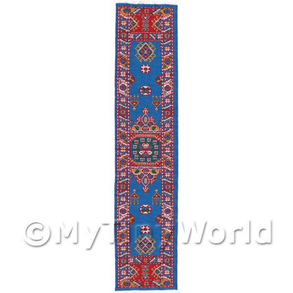 Dolls House Miniature 24cm Woven Turkish Hall Runner (TR086)