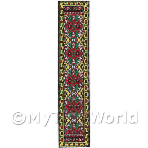 Dolls House Miniature  | Dolls House Miniature 24cm Woven Turkish Hall Runner (TR089)