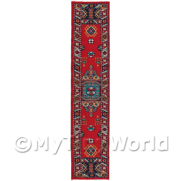 Dolls House Miniature 24cm Woven Turkish Hall Runner (TR091)