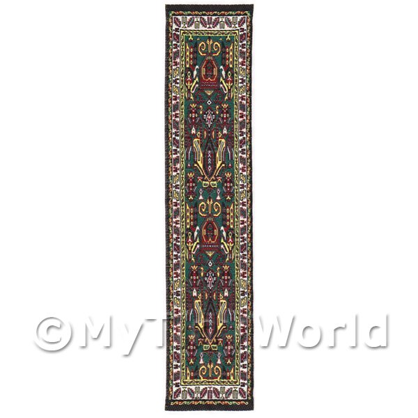 Dolls House Miniature  | Dolls House Miniature 24cm Woven Turkish Hall Runner (TR094)