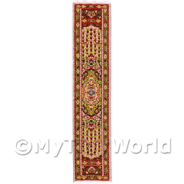 Dolls House Miniature  | Dolls House Miniature 24cm Woven Turkish Hall Runner (TR095)