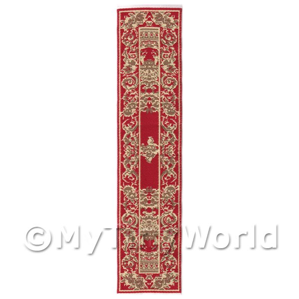 Dolls House Miniature 24cm Woven Turkish Hall Runner (TR096)