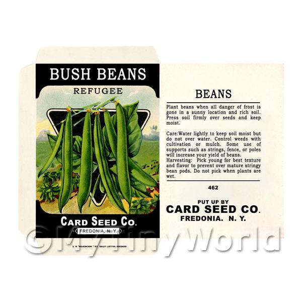 Dolls House Miniature Bush Beans Seed Packet (SP04)