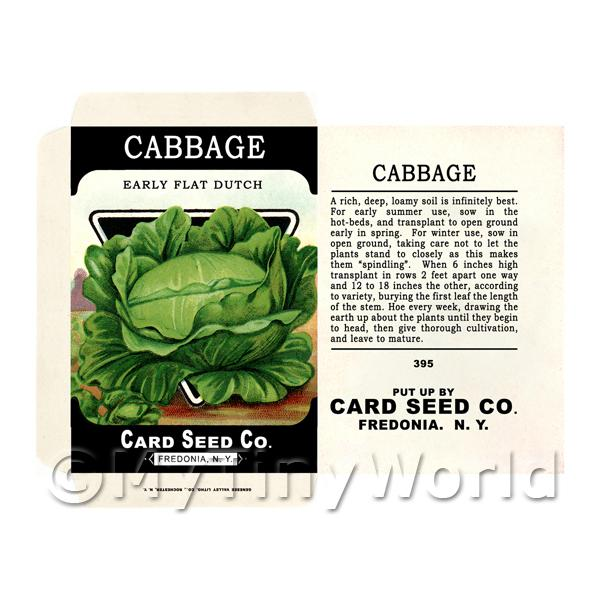 Dutch Cabbage Dolls House Miniature Seed Packet