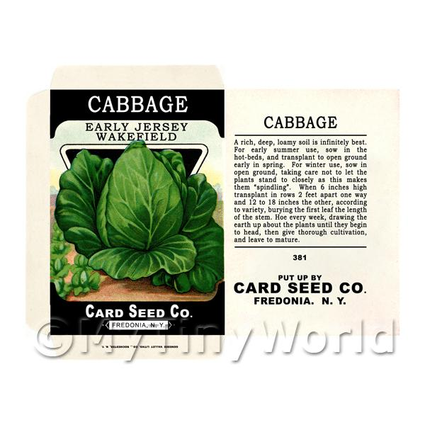 Jersey Cabbage Dolls House Miniature Seed Packet